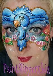 blue bird face painting paintslingers biz face and painting blue faces and face paintings