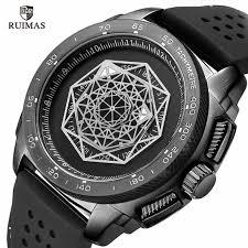 RUIMAS Silicone Sports Watches <b>Men</b> Fashion Causal Wristwatch ...