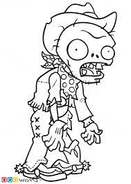 Zombie Coloring Pages Plants Vs Zombies Plant Bday Pinterest