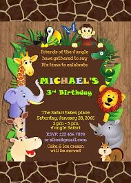 Jungle Theme Birthday Invitations Safari Birthday Invitations Jungle Animal Theme Printable