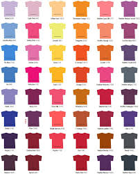 Fruit Of The Loom T Shirt Color Chart Tshirts On You Color Selections