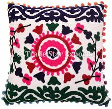 Pillow Case Hand Embroidery Designs Indian Home Decorative Pillow Case Embroidery Design Hand Embroidered Suzani Cushion Cover Buy Embroidery Design Pillow Decorative Decorative Pillow