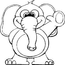 Elefante Che Saluta Con La Mano Disegno Da Stampare E Da Colorare