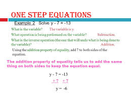 one step equations example 1 solve x 4 12 what is the variable