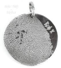 fingerprint jewellery child prints on silver circle pendant oxi