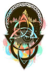Plakát Keltské Barevné Tetování A Design Trička Keltské Uzel Tetování