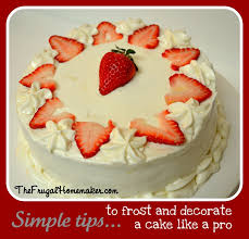 Simple Cake Decorating Designs Strawberry White chocolate cake w lemon cream cheese icing how 65