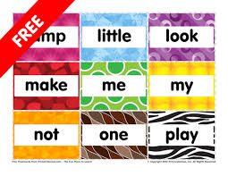 Flashcards Pre K Sight Words Jump To Play Free Online