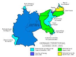 territorial evolution of  german territorial losses 1919 1945