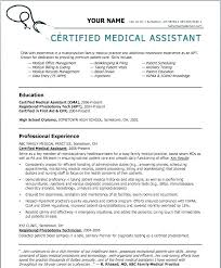 Healthcare Resume Template Beauteous Resume Template For Medical Assistants Mysticskingdom