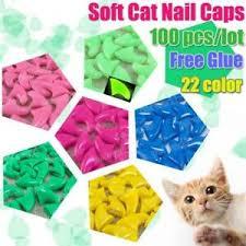 100pcs nail caps for cat soft cat paw