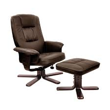 office recliners. PU Leather Lounge Office Recliner Chair Ottoman Chocolate Recliners N