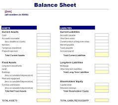 Free Simple Balance Sheet Template Balance Sheet Template
