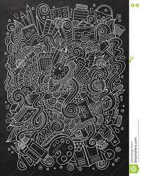 Cartoon Cute Doodles Hand Drawn Artistic Illustration Stock Vector