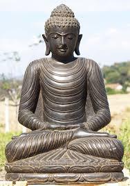 garden buddha. Stone Meditating Garden Buddha Statue 32\