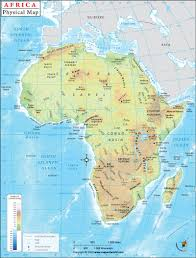 Physical Map of Africa | Map worksheets, Physical map, Africa map