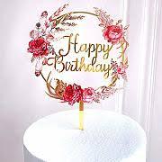 Le gif con auguri di buon compleanno, con fiori per una ragazza. Rb6mzfs3lgfolm