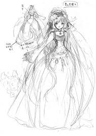 Manga Princess Drawing Sketch Of Angel Princess With Long Hair