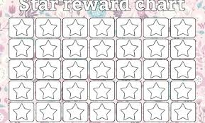 Printable Star Charts Star Reward Chart Template Amartyasen Co