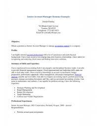 Senior Account Manager Resume Free Resume Templates