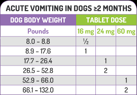 Dog Antihistamine Dosage Chart Prevent Car Sickness In Dogs Prevention Of Dog Vomiting