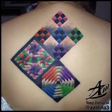 Third annual quilt square on Mel's back piece.   Aquanaut Tattoo ... & Third annual quilt square on Mel's back piece. Adamdwight.com