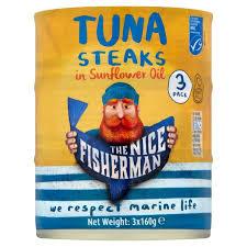 The <b>Nice Fisherman</b> MSC Tuna Steaks in Sunflower Oil | Ocado