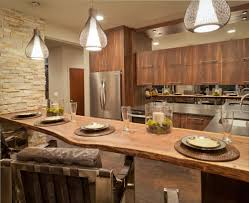 ... Charming Brown Rectangle Unique Wooden Modern Kitchen Renovation Ideas  Varnished Ideas: modern ...