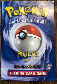 Pokemon Trading Game Regeln Version 2 Booklet Original