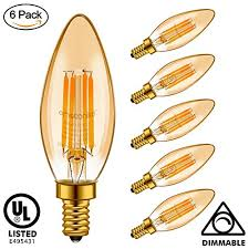 emotionlite e12 led bulb candelabra bulb dimmable amber glow 4w 40w equivalent chandelier light bulbs 300lm e12 candelabra base