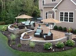 landscaping around patio