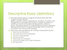 types of essays 5 descriptive essay