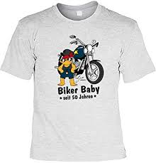 Motorradfahrer Lustiges Biker Herren T Zum 50 Geburtstag Biker Baby