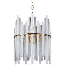 glass rod chandelier circa 1960 for