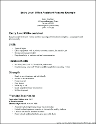 Clerical Resume Unique Resume For An Office Job Examples Admin Mmventuresco