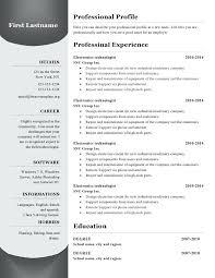 Best Resume Format Free – Resume Sample Web