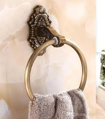 towel rings for bathrooms antique gold wall mounted holder ring solid brass construction finish bathroom accessories towel rings