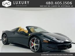 It costs upwards of $297,000 and comes with a 3.9l twinturbo v8 that can produce up to 720 horsepower along with 568 pounds per foot of torque. Used Ferrari 458 Spider For Sale Carsforsale Com