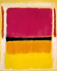 rothko painting in yellow red and black