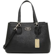 coach bag coach 34563 liblk cross grain leather small kit 2 way carry bag black