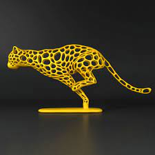 Cheetah Sprinter 3d printing art sculpture inspired by the speedy creature.  Order 3d printed product at https://www… | 3 boyutlu yazıcı, 3d baskı,  Aksiyon figürleri