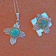 new mexico beautiful zia with turquoise southwestern native jewelry from santa fe silverworks by gregory segura