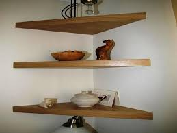 Oak Corner Floating Shelves Corner Desk With Shelves Above Bedroom Ideas And Inspirations 28