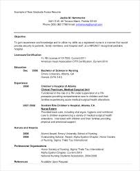 Nursing School Resume Template - Gfyork.com