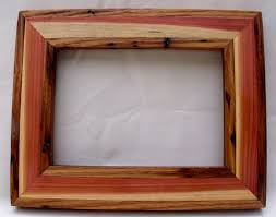 custom picture frames. Custom Made Reclaimed Wormy American Chestnut Inlayed With Cedar Picture  Frame Custom Picture Frames