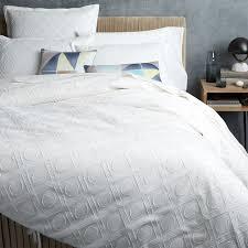 roar rabbit graphic texture duvet cover shams west elm weston white quilt