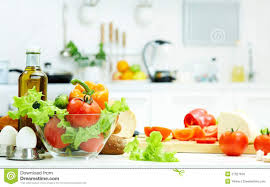 kitchen table with food. Healthy Food Kitchen Table With L