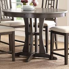 round table modesto inch round counter dining table with pedestal base modesto dining table round table modesto