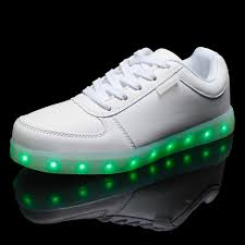 Light Up Sneakers For Adults Dogeek Unisex Adults Light Up Shoes Black White Size 35 Eu