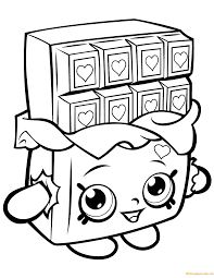 Nice cars, which all have their own shape and color, they also have a nice name. Cheeky Chocolate Shopkin Season 1 Coloring Page Coloring Pages For Kids Shopkins Coloring Pages Free Printable Shopkin Coloring Pages Cartoon Coloring Pages